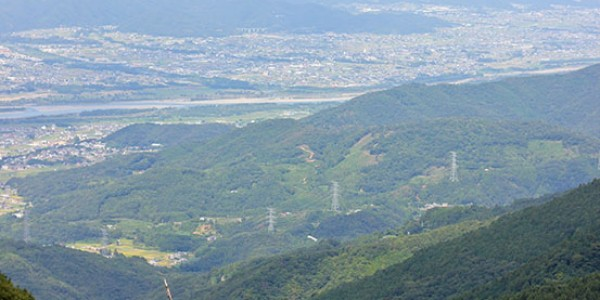 View of Yoshinogawa from Mt Kotsu